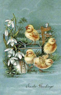 Old Easter Postcards More easter images К ПРАЗДНИКУ Decoupage, Easter Art, Easter Crafts, Vintage Easter, Vintage Holiday, Vintage Cards, Vintage Postcards, Illustrations Vintage, Easter Illustration