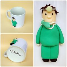 Doctor mug made out of polymer clay Visit my blog http://sfactory-sara.blogspot.com/
