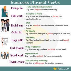 Business Phrasal Verbs