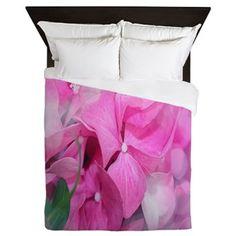 Pink Floral Pattern Queen Duvet