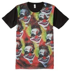 Halloween Horrorclown Collage All-Over-Print Shirt - Halloween happyhalloween festival party holiday