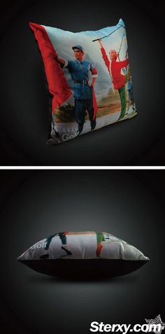 The cushion cover exhibits an image of Xi'er joining the Eighth Route Army.  Humorous and interesting,placing at home, the design will definitely definitely stand out  in any interiors as home decro. #home #cushion #cushioncover #Chinesestyle #art #design #furnishing