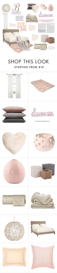 """""""Soft. Dreamy. Bedroom."""" by theartbug-home on Polyvore featuring interior, interiors, interior design, home, home decor, interior decorating, Royal Velvet, Hawkins, Nordstrom and Missoni Home"""