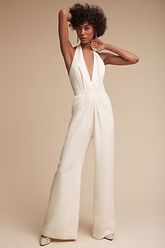 aa2ee9bd8ee5 BHLDN Jill Jill Stuart Mara Jumpsuit - wedding jumpsuit - This chic  jumpsuit is equal parts modern and sophisticated. Featuring a plunging  v-neck and flowy ...