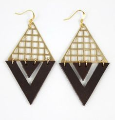 Infinity brass and leather earrings <3 $25
