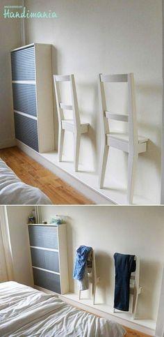 excellente idée! Gain de place au sol, j adore