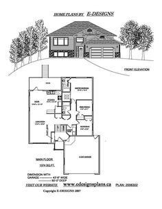 Bi Level House Plans with Garage E-Designs Garage House Plans, Garage Ideas, Nook, Floor Plans, Flooring, How To Plan, Design, Nooks, Wood Flooring