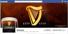 Guinness is one of the best known beer brands in the world and its page makes you want to run out and grab a pint of the black creamy stuff straight away. Best Facebook, Facebook Brand, Guinness, Cover Photo Design, Network Marketing Tips, Media Marketing, Beer Brands, Web Design Agency, Facebook Timeline Covers