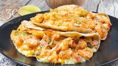 Shrimp Taco Recipes, Fish Recipes, Meat Recipes, Mexican Food Recipes, Cooking Recipes, Healthy Recipes, Easy Weeknight Meals, Quick Easy Meals, Tacos Gobernador