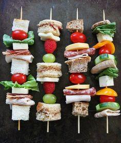 10 Healthy After-School Snacks - Sandwich on a Stick