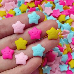 Kawaii Star Cabochons (8pcs / 12mm) Decoden Cell Phone Deco Scrapbooking Jewelry Making Earring Making FCAB075