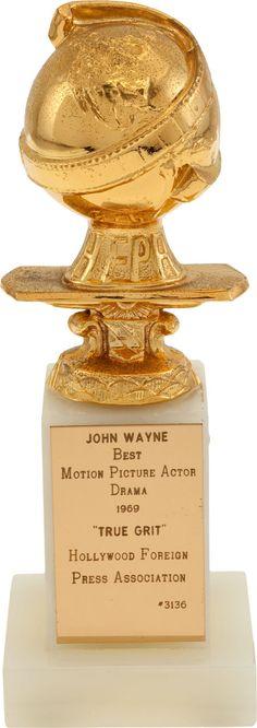 "Movie/TV Memorabilia:Awards, A Golden Globe Award for ""True Grit.""... Image #1"