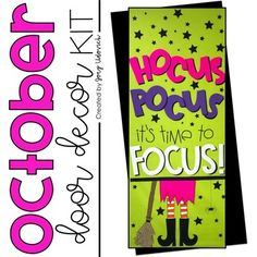 halloween classroom door BUY THE BUNDLE AND SAVE! October is a truly magical month, and one that I can't ever wait to arrive! This door has brought so much joy to my students a Halloween Classroom Door, Halloween Bulletin Boards, Halloween Front Doors, High School Classroom, Classroom Decor, October Bulletin Boards, Class Door, Students Day, Teacher Doors
