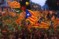 The Daily Beast: Separatism Spreads in Catalonia. The flag of Catalonia has flown a little more frequently, as people in Barcelona and elsewhere in the region wonder if they might be better off breaking away from Spain. While a referendum will be held Thursday on whether or not Catalans want their independence—a move Spain says would be unconstitutional—it seems unlikely that such a drastic split will actually take place, even as citizens grow more frustrated with Spain's economic woes.