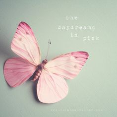 she daydreams in pink with words 8x8 whimsical door SusannahTucker, $35.00