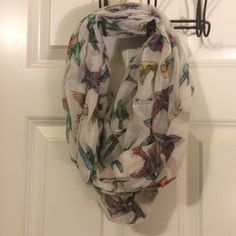 Sparrow infinity scarf Multicolored sparrow infinity scarf. 100% acrylic and gently used. Accessories Scarves & Wraps