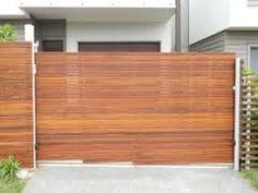 Resultado de imagen para sliding driveway gates with pedestrian access