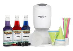 Snow Cone Maker W Syrup Sno Cones Ice Machine Shaver Crusher Electric Shaved