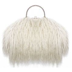 Pre-owned Fine and Rare 1960s XL Mongolian Lamb Fur Purse Bag (€4.960) ❤ liked on Polyvore featuring bags, handbags, handbags and purses, top handle bags, top handle bag, white handbags, fur purse, top handle handbags and pre owned bags