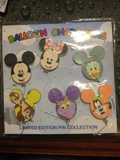 Disney WDW Disney Character Balloon Mystery Collection 6 pin set w/Figment Pin
