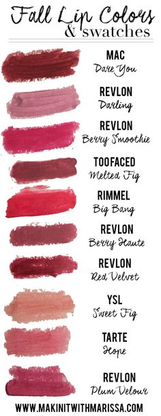 On the blog: Fall Lip Colors & Swatches! Just can't get enough of a bold berry lip :) | www.makinitwithmarissa.com