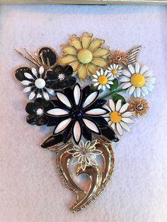 Vintage Enamel Flower Bouquet