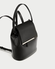 Image 3 of BACKPACK WITH HANDLE AND METAL DETAIL from Zara
