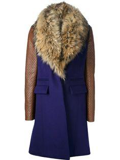 DIANE VON FURSTENBERG Fur Collar Coat