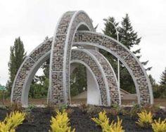 curved gabion sculpture http://www.gabion1.com