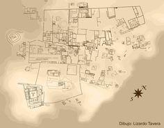 5/ PÉRIODE INTERMÉDIAIRE RÉCENTE. YSCHMA. Le temple de Pachacamac et le temple peint sont les deux structures les plus anciennes, le temple du soleil a été construit à la période inca. Une deuxième enceinte encercle un ensemble de structures de dimensions imposantes. axe nord-sud. L'Aklahuasi, femmes recluses pour créer les textiles à la période inca. Le palais du seigneur local à la période inca, Tauri Chumpi. Le long des voies centrales, 14 pyramides à rampe.