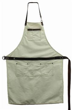 Waxed Canvas and Leather Shop Apron
