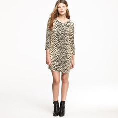 J. Crew 'Jules' Wildcat Print Dress – Size 10 - Retail price $188 - Our price $60 - Sale supports ASPCA