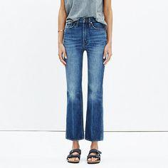 Madewell Rivet Thread High Rise Crop Flare Jeans