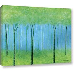 ArtWall Herb Dickinson Mystical Blue Gallery-wrapped Canvas, Size: 12 x 18, Green