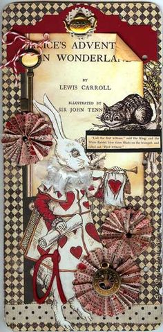 Lovely page with lots of distinctive details! How about the cool ruffle around the white rabbits neck? I'm partial to the rosettes, too, you know. Clever little punched seal at the top with the tea pot on top---soooo Sara! Love this!