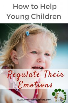 How to Help Young Children Regulate Their Emotions. Montessori Toddler, Montessori Activities, Infant Activities, Maria Montessori, Montessori Classroom, Teaching Emotions, Emotions Activities, Teaching Kids, Parenting Books