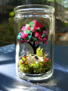 Moonstone Terrarium Real Dandelion seed Fairy by phoenixchiu