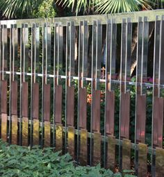 Contemporary Stainless and Copper Fence and Gates by Wiemann Metalcraft for Beverly Hills Res.