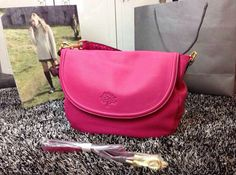 Cheap 2015 Spring Summer Mulberry Outlet- Effie Satchel Bag in Fuchsia Leather