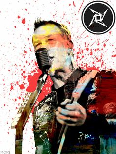 Enter Sand Man James Hetfield of Metallica 8x11 by AbstractCeleb, $15.00 Ron Mcgovney, James Music, Enter Sandman, Jason Newsted, Robert Trujillo, Master Of Puppets, Dave Mustaine, James Hetfield, Band Posters