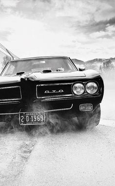 Awesome shot of a classic Pontiac GTO!