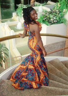 Print wedding dress! African Fashion #2dayslook #AfricanFashion. I love it... do something different.