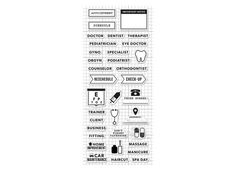 Appointment Planner Stamp Set - Clear Acrylic - Hero Arts - Kelly Purkey - 536045