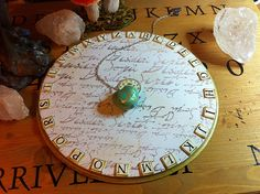 Pendulum Board -- I wonder how my pendulum would respond to this. I'm tempted to make one.