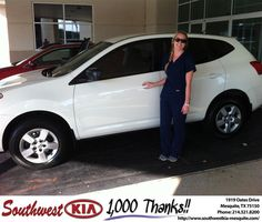 #HappyAnniversary to Ashleigh Holden on your new car   from Jerry Tonubbee at Southwest Kia Mesquite!