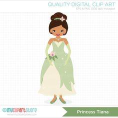 Frog Princess / Princess Tiana Clip Art / by MyClipArtStore, $2.50