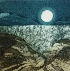 The Shattered Sea by Sarah Ross-Thompson. Collagraph Printmaking