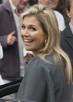 Queen Maxima of The Netherlands attends in her capacity as honorary chair of Platform Wijzer in Geldzaken (Wiser with Money Matters) the Netherlands Bank (DNB) Pension Seminar 2014 on September 11, 2014 in Bussum, The Netherlands.