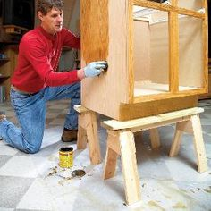 Mini-sawhorses (saw ponies) are surprisingly useful around the shop or job site, and are easier to make than full-size saw horses. Using this plan you can make them from scrap lumber for almost nothing.