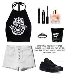 """Untitled #374"" by atrabiliousx on Polyvore featuring Abercrombie & Fitch, Bobbi Brown Cosmetics, Valentino, Converse and Fidelity"